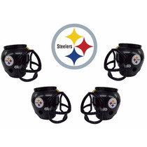 Casco Nfl Pittsburgh Steelers Combo 4 Cascos Cerveceros