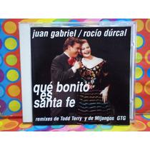 Juan Gabriel /rocio Dulcal Cd Que Bonito Es Santa Fe Remixes