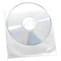 Funda De Vinyl Transparente P/cd/dvd, Paquete Con 100 Pzas.
