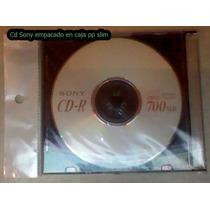 Cd-r Sony Virgen En Caja Slim 10 Por Solo $65.00 Hm4
