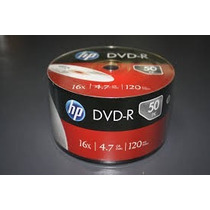 Dvd Hp Torre C/ 50 Dvd 16x 4.7 Gb 120 Min