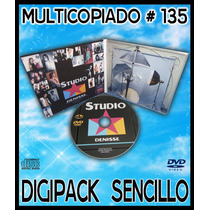 25 Pack Multicopiado Digipack Sencillo Cd/dvd/bd # 135