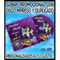 10 Sobres De Carton Con Disco Impreso Y Copiado. Cd O Dvd