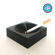 Cenicero Portatil Color Negro Cigarro Fumar Silicon Rigido
