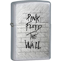 Encendedor Cromado -pink Floyd Logo The Wall