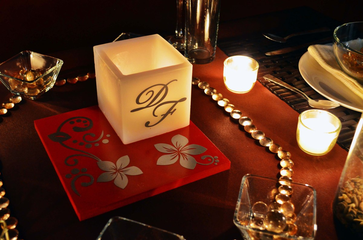Centro de mesa para boda en tonos rojo y plateado aluzza en mercadolibre - Precios de centros de mesa para boda ...