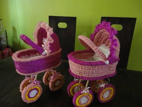 Centros de mesa de baby shower de papel crepe - Imagui