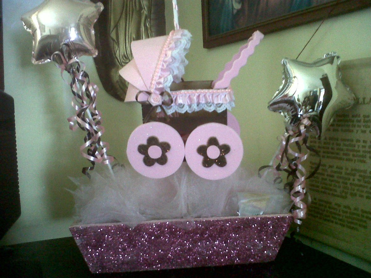 pics photos ideas para centros de mesa para baby shower sencillos