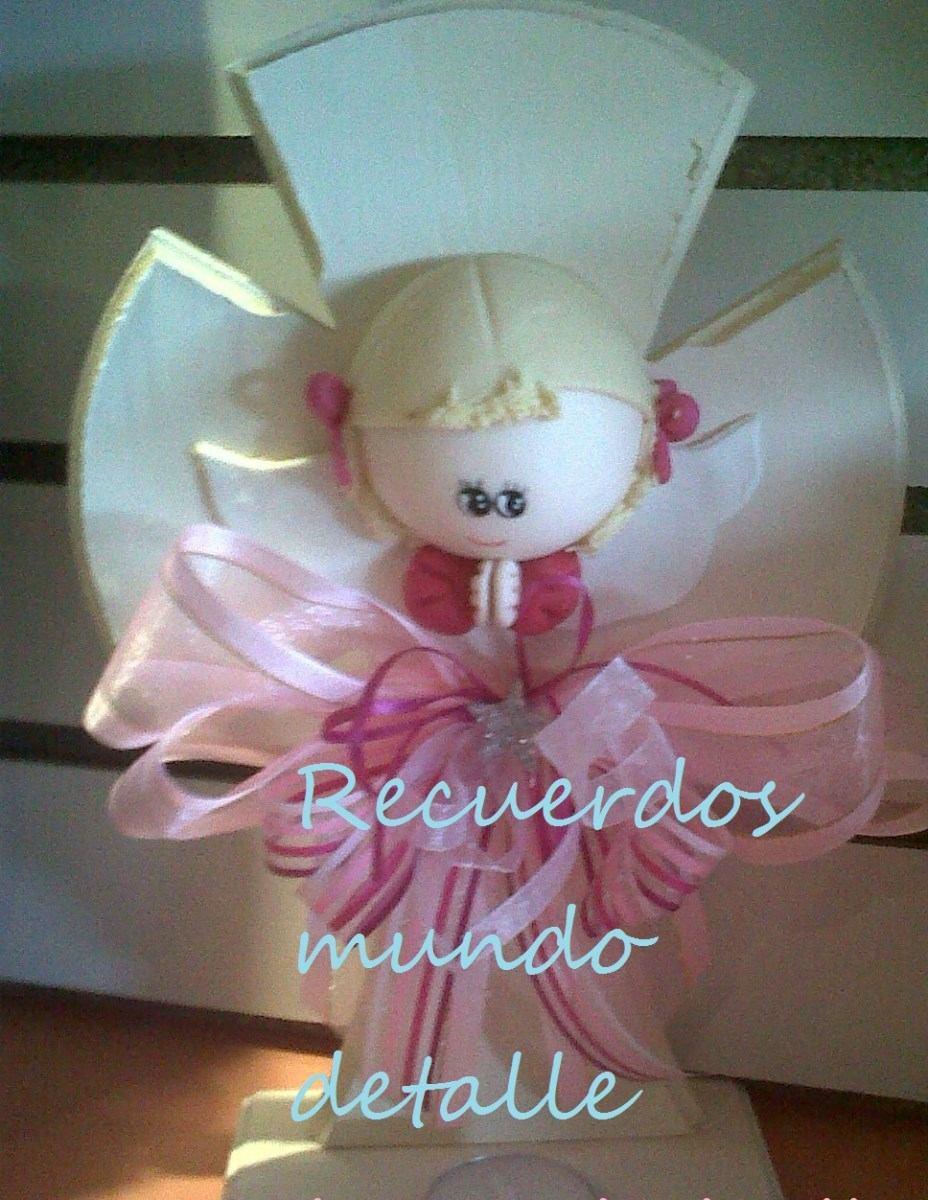 Centros De Mesa Para Bautizo, Curz De Madera, Angelitos - $ 115.00 en