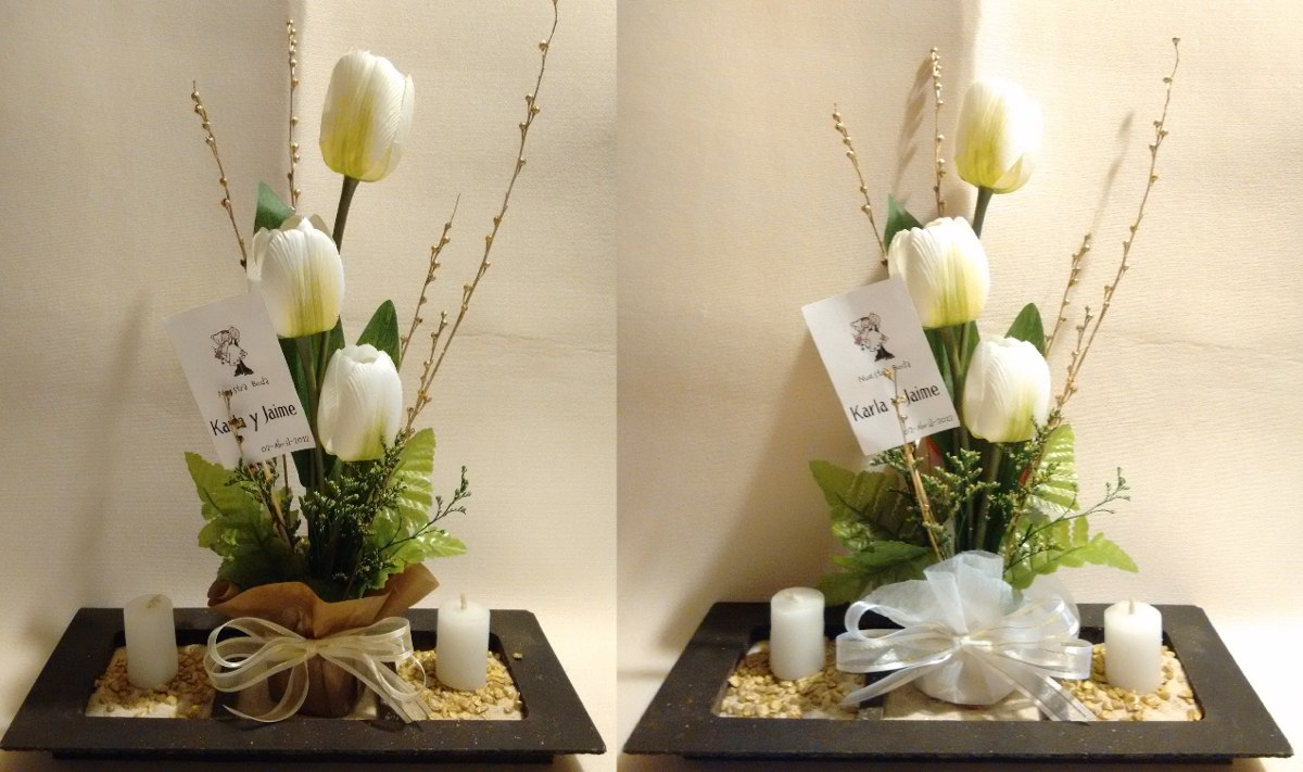 Centros de mesa para boda bautizo presentaci n xv a os - Centros de mesa boda ...