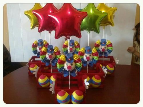 Como hacer centros de mesa infantiles de payasos - Imagui