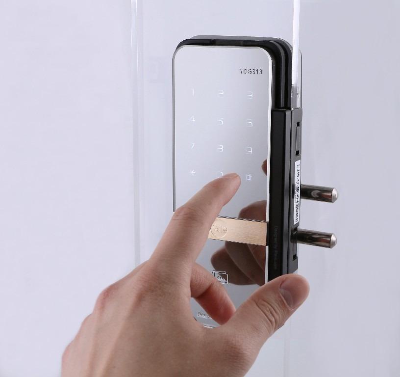 Cerradura chapa digital para puerta de vidrio yale ydg313 - Puerta de chapa ...