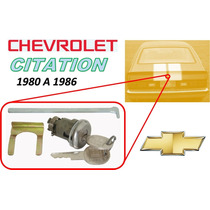 80-86 Chevrolet Citation Chapa Para Cajuela Llaves Cromado