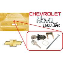 62-80 Chevrolet Nova Para Chapa Cajuela Llaves Color Negro