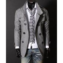 Abrigo Hombre Moda Japonesa Caballero Slim Fit Elegante
