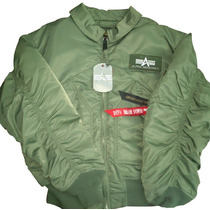Chamarra Original Piloto Alpha Industries Ma-1 Flight Jacket
