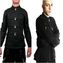 Chamarra Tripp Hottopic Dark Camisa De Fuerza Punk Emo