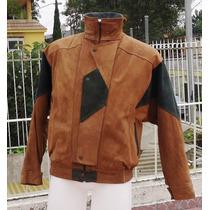 Chamarra Color Miel C/verde Bandera