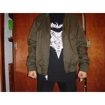 Chamarra Levis Bomber Aviador 100% Original Rock Punk Metal