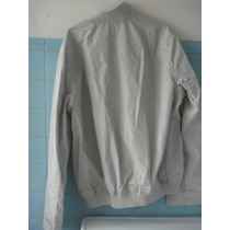 Chamarra Perry Ellis Color Gris Claro Super Padre Talla L