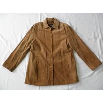 Fino Jacket Abrigo Gabardina Chamarra Piel Genuina L Mujer