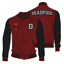 Deadpool Varsity Jacket Mujer Mascara De Latex Marvel