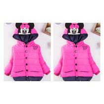 Chamarra Abrigo De Niña Rompe Vientos Mickey Mouse
