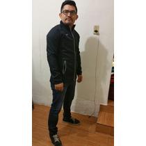 Chaqueta Ligera Impermeable Slim Fit Tipo Franela Por Dentro