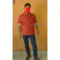 Chaqueta De Mezclilla Vintage Roja Guess ? Original Hombre M