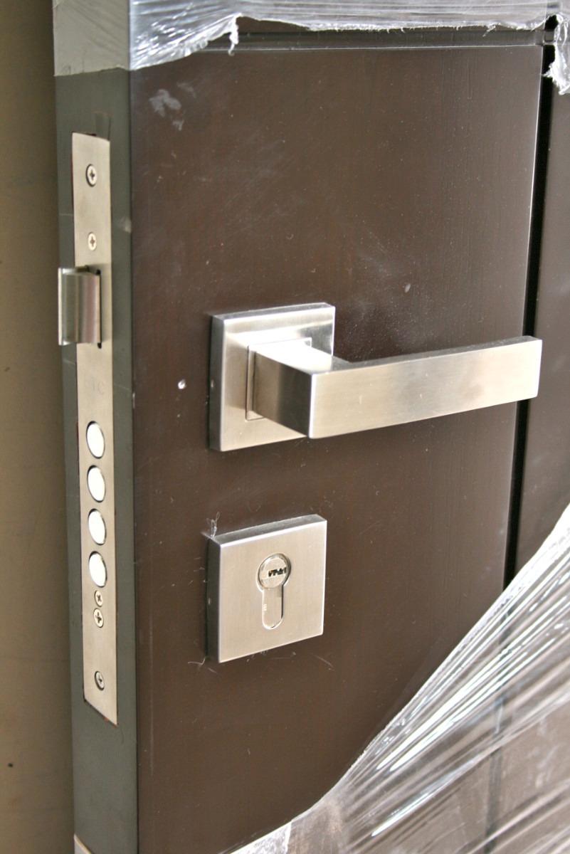 Chapa o cerradura de acero inoxidable s lido para puerta for Manijas para puertas de madera