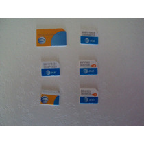 Tarjeta Sim At&t Chip Apple Activa Iphone 3g 3gs 4 4s 5 5s