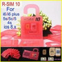 Rsim 10 -iphone 4s, 5, 5c, 5s, 6, 6+ Gevey Turbosim R-sim