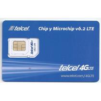 Sim Telcel Gsm, 3g Y 4g Lte Normal Micro Y Nano Ultima Versi