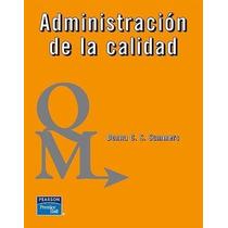 Libro: Administración De La Calidad Pdf