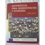Matemáticas Para Administración Y Economía - Margaret Lial