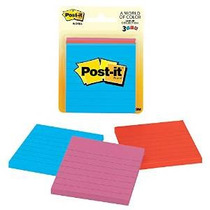 Post-it Notes, 3 En X 3 En, Jaipur Colección, Forrado, 3 Pad