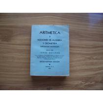 Aritmética Y Nociones Algebra Y Geometría-jorge Quijano-rm4