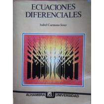 Ecuaciones Diferenciales, Isabel Carmona Jover