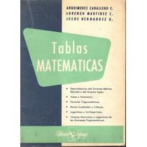 Tablas Matemáticas. A. Caballero Y Otros