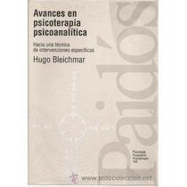 Avances En Psicoterapía Psicoanalítica Pdf
