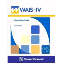 Wais Iv Escala Wechsler Manual Moderno C/port Cartón