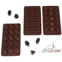 Le Silicona Juego De 3 Chocolate De Silicona Y Candy Moldes