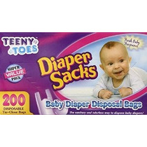 Dedos Del Pie Pequeñitos Bebé Pañal Desechable Sacos 200 Con