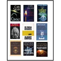 Pack De Libros Digitales De Carl Sagan, Einstein Y Hawking
