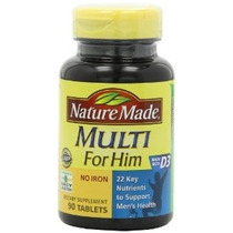 Nature Made Multi Para Él Vitaminas Y Minerales 90 Tabletas