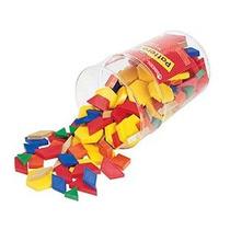 Aprender Recursos Plástico Patrón Bloques 1 Cm (juego De 250