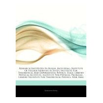 Articles On Research Institutes In Russia,, Hephaestus Books