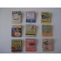 Lote Carteritas De Cerillos U.s.a. Edicion De Coleccion