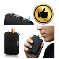 Cigarrera Con Encendedor Integrado Unisex Para 10 Cigarros.
