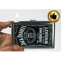 Cigarrera Con Encendedor Integrado Unisex Para 16 Cigarros.